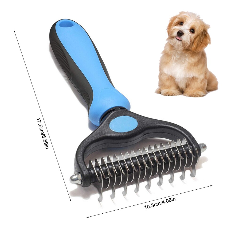 Pet Grooming Hair Removal Comb Tool Dog Cats Fur Trimming Brush Blade Tools For Matted Long Curly Hair Pet Supplies