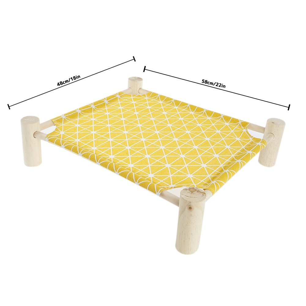 Cat Hammocks DIY Assembly Wood Canvas Breathable Sleeping Beds Small Pet Lounge for Kitten Puppy Cottages Durable Pet Supplies